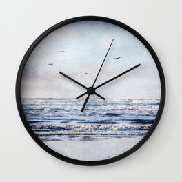 Sea To The Sky Textured Photographic Print  Wall Clock