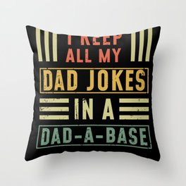Dad DATA PROGRAMMER Not Funny Throw Pillow