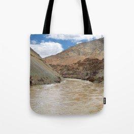 Rafting on the Zanskar River Tote Bag