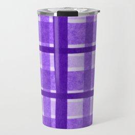 Tissue Paper Plaid - Purple Travel Mug