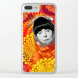 Supermodel Peggy 2 - Supermodels of the Sixties Series Clear iPhone Case