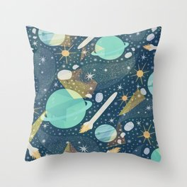 Colorful Abstract Space Background Pattern Throw Pillow