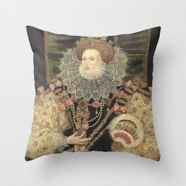 George Gower - Portrait of Elizabeth I of England Throw Pillow