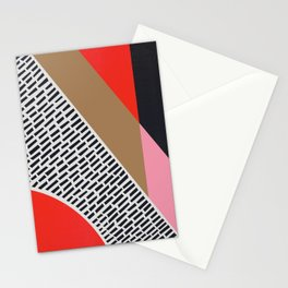 Pink Gold Red Abstract Stationery Cards