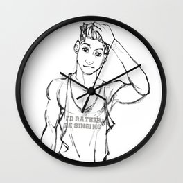I'd Rather Be Singing Wall Clock