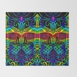 Rainbow tangling Throw Blanket
