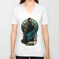 snape V-neck T-shirts featuring Always by Megan Lara
