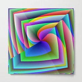 Its Hip To Be Square Metal Print