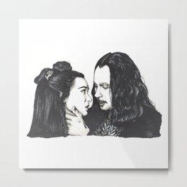 Dracula and Mina Metal Print