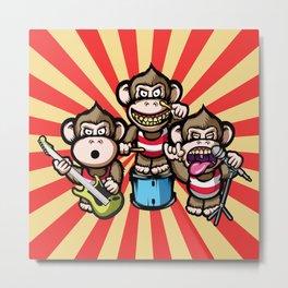 Apes Rock Metal Print