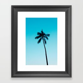 palm tree ver.skyblue Framed Art Print