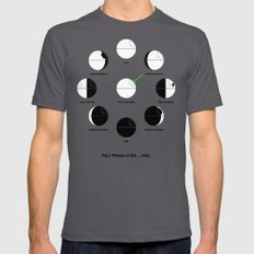 That's No Moon Phases Asphalt LARGE Mens Fitted Tee