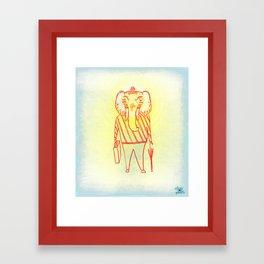 Elephant Dad Framed Art Print