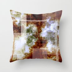 Forest Memories Abstract Orange Fire Throw Pillow