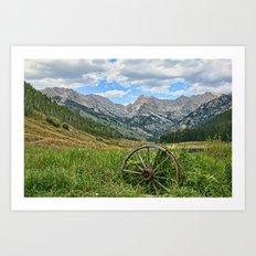 Colorado Rockies Secluded Lake Art Print
