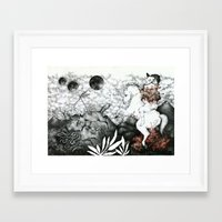 hunting Framed Art Prints featuring hunting by Vania Barbato