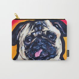 Pug Dog Painted Pop Art Design Carry-All Pouch