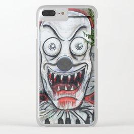 Creepy Clown Clear iPhone Case