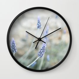 Greek Lavender in pastel colors | Nature wall art | Travel photography print Wall Clock