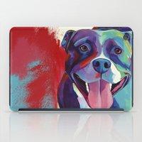 pitbull iPad Cases featuring Emma - Pitbull Pop Art by Corina St. Martin Art