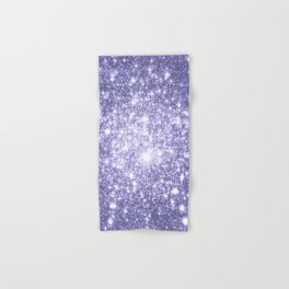 Galaxy Sparkle Dark Lavender Hand & Bath Towel