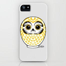 White Fukuro Daruma iPhone Case