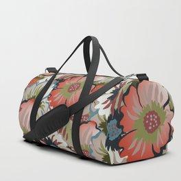 Flowers - Cloudy (Grey), Dark Chestnut (Brown), Del Rio, Clay Creek (Green) Duffle Bag