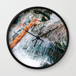 Creek bed in Squamish, Canada Wall Clock