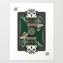 Owl Card. Art Print