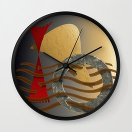 Postmarked Wall Clock