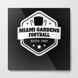Miami Gardens Football Metal Print