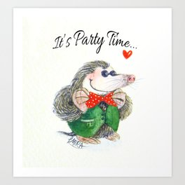 Mr Mole Art Print