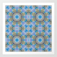 finland Art Prints featuring Finland Kaleidoscope by Lu Haddad