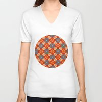 persian V-neck T-shirts featuring Persian Parlor by Peter Gross