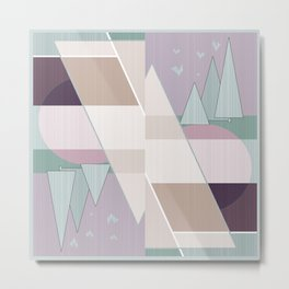 Abstract pattern in pastel colors .  Metal Print