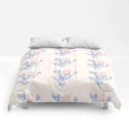 Crosshatching Rose Buds Pattern Comforters
