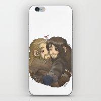 hug iPhone & iPod Skins featuring Hug by AlyTheKitten