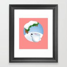 Winter bunny Framed Art Print