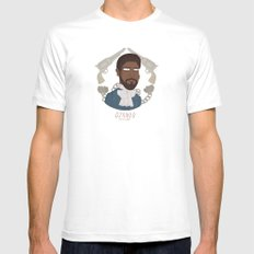 The D Is Silent MEDIUM Mens Fitted Tee White
