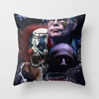 stephen king Throw Pillows featuring Stephen King by Saint Genesis