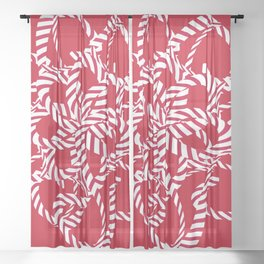 Candy cane flower 4 Sheer Curtain