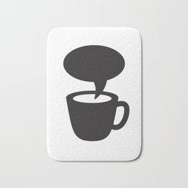 Coffee cup dialogue Bath Mat