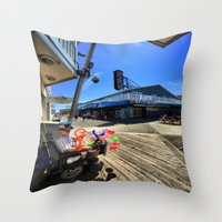 mad hatter Throw Pillows featuring mAD hATTER by gymmybob