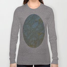 Marble in Blues and Golds, Italian  Long Sleeve T-shirt