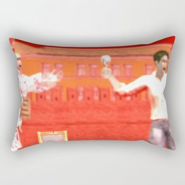 SquaRed: No country for musicman Rectangular Pillow