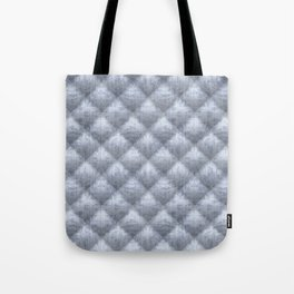 Quilted Soft Blue Velvety Pattern Tote Bag