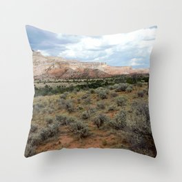 Mesas of New Mexico, on the Road from Chama to Santa Fe Throw Pillow