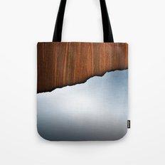 Wooden Brushed Metal Tote Bag