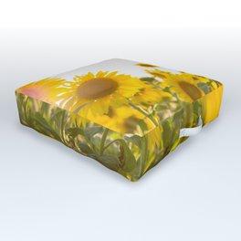 Sunflower Field Outdoor Floor Cushion