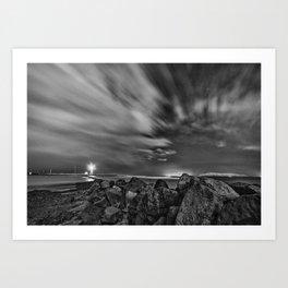 Rocky Lighthouse Art Print